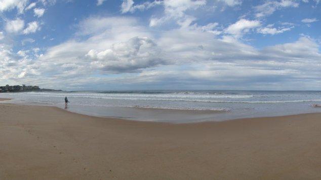 Manly Beach, avec un peu de vagues...