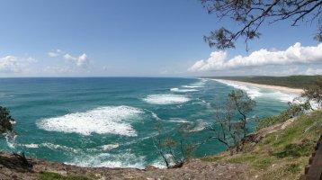 Point Lookout, et la plage reine du surf