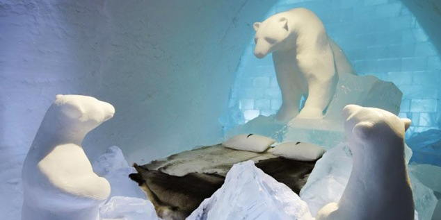 Ice Hotel - sweden-lapland-icehotel-art-suite-polar-bear