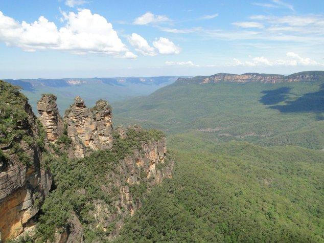 Post - Blue Mt - Katoomba - Three Sisters