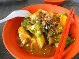 Tofu, broccolis and pork
