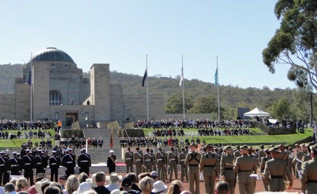 Post - Canberra - ANZAC day