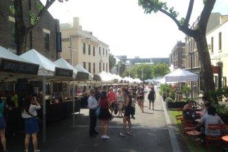 The Rocks market.