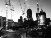 Many construction works...