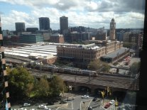 View of Central Station, from the Project Office.