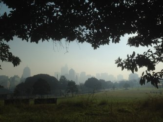 View of the city in the mist...