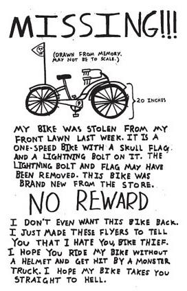 post - Bike missing