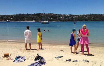 On the beach...