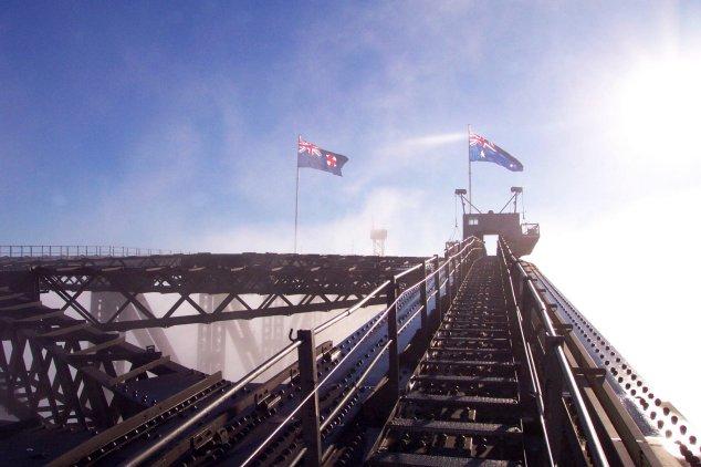 post-bridgeclimb-sydney-flags-morning
