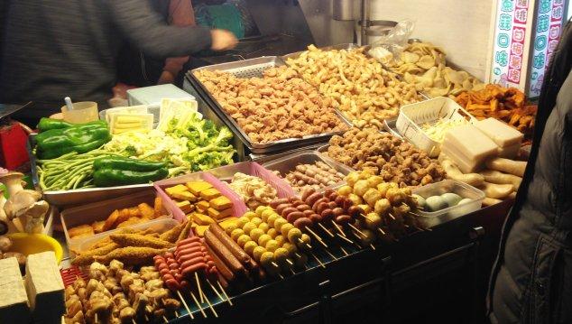 Post - Taiwan - Eating - Night market meat sticks