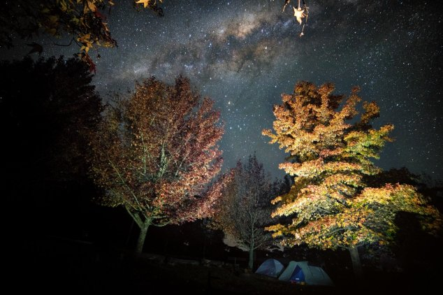 Post - Autumn Mountains - Starry Sky